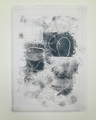 'A path is a tether' Monoprint by India Boxall