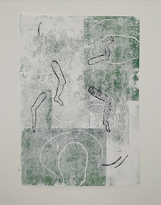 'Atomic Remains' monoprint series by India Boxall