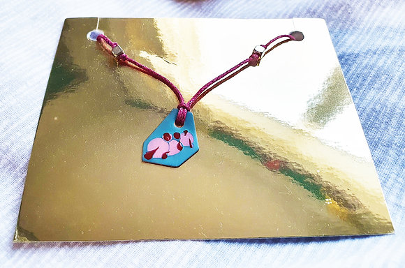 'Double Sided Tear Drop' Necklace by Aqsa Arif