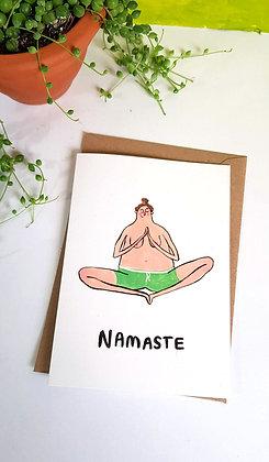 'Namaste' Greetings card by Harriet Orrey-Godden