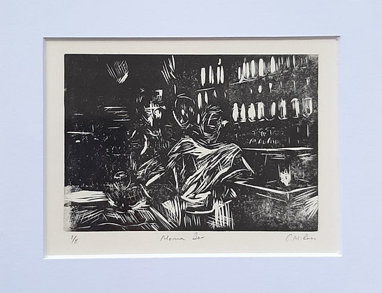 'Marina bar' Relief print series by Connor Ross