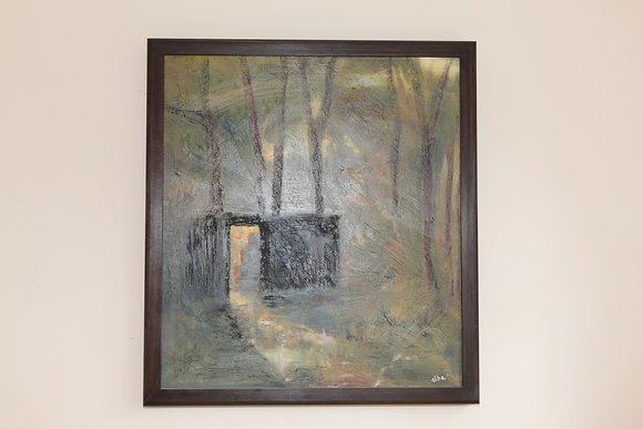 'Hut in the Woods' Framed oil on canvas by Alistair Bamforth