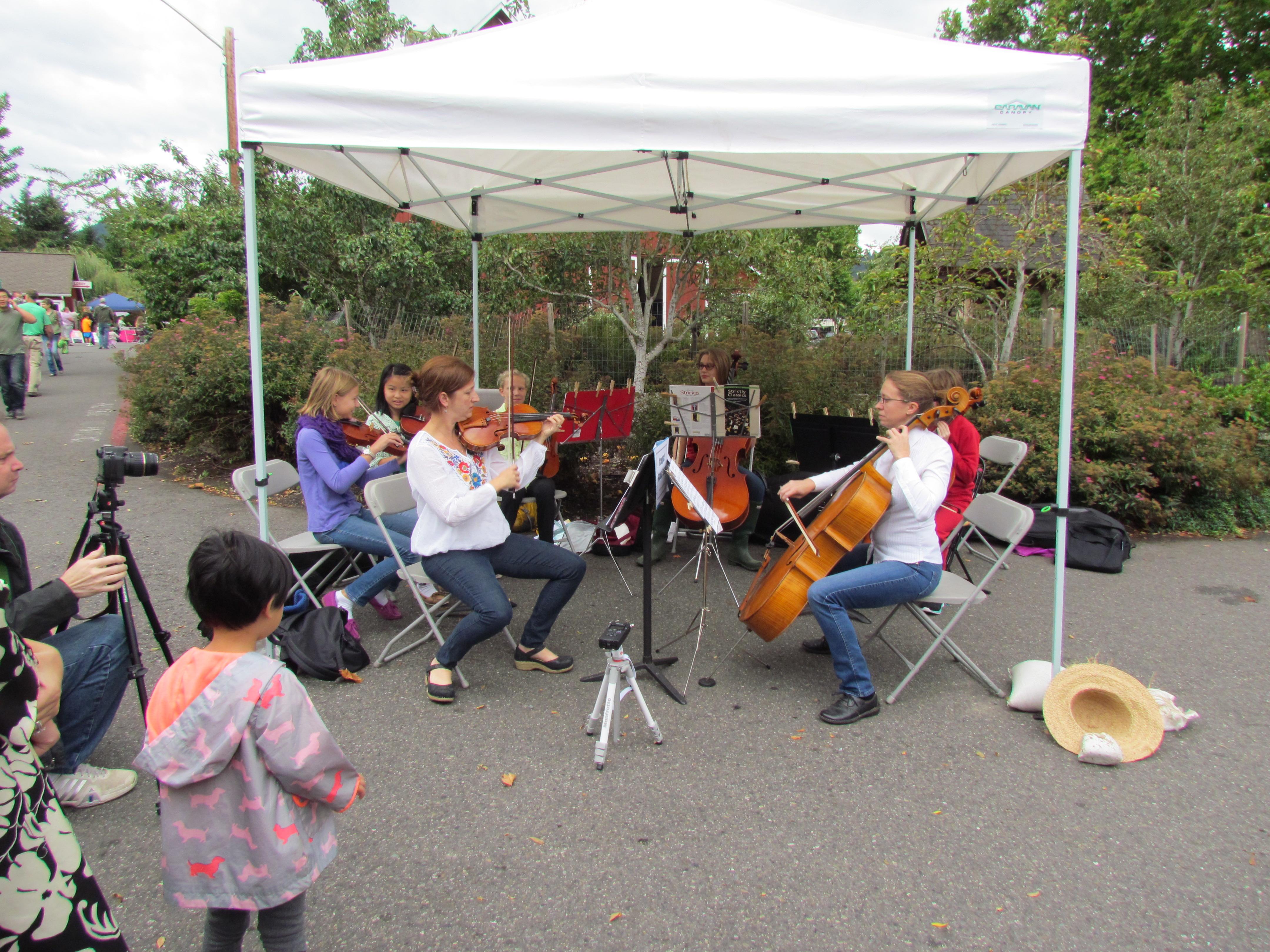 Outreach violin/cello faculty performance