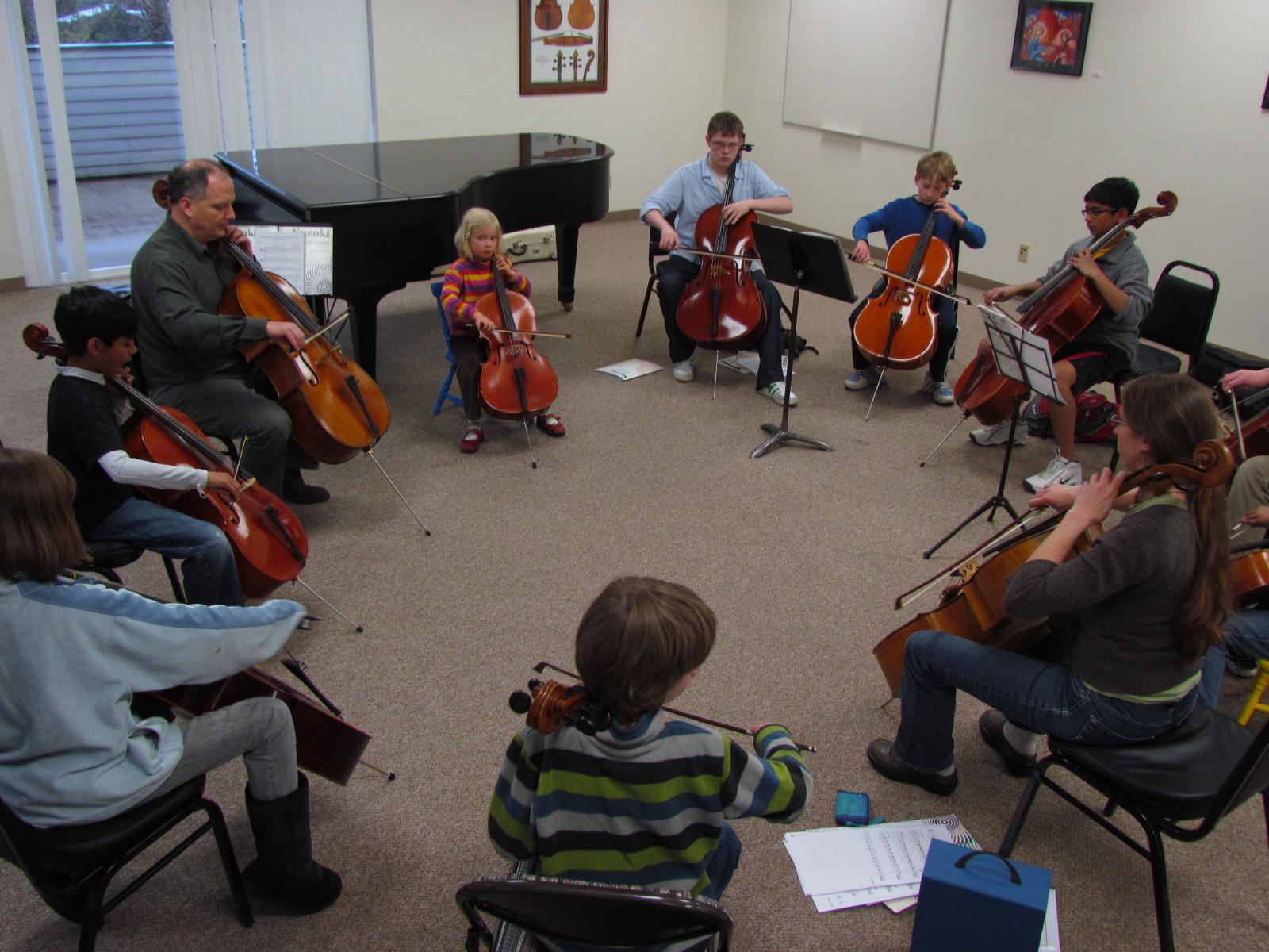 Cello group lesson