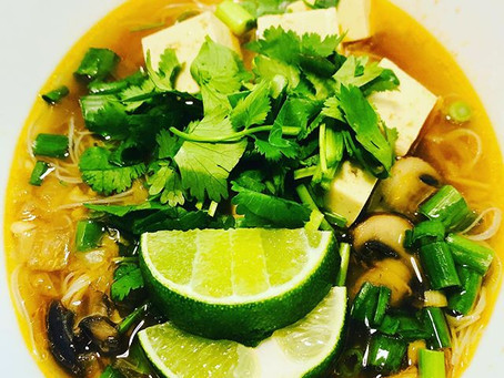 Quick & Easy Thai Chicken Noodle Soup