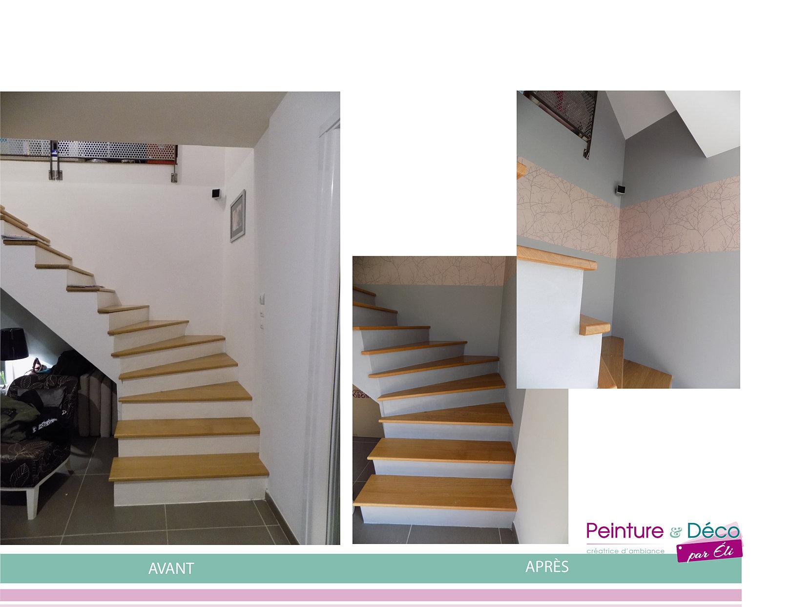 Préférence Cage-escalier | France | Peinture & Déco par Éli GH23