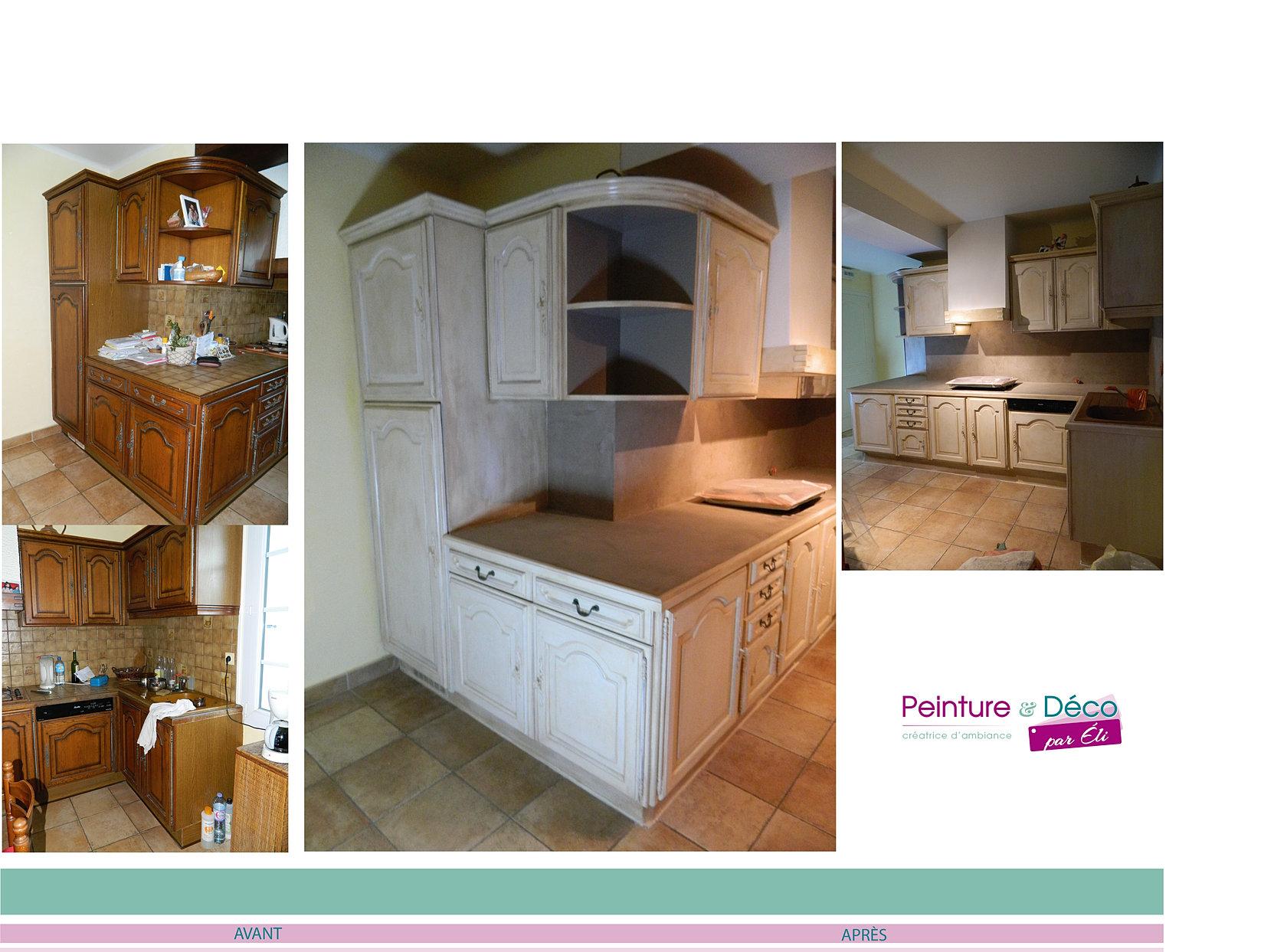 Repeindre des meubles de cuisine rustique la crdence de la cuisine 11 ides - Repeindre meuble rustique ...