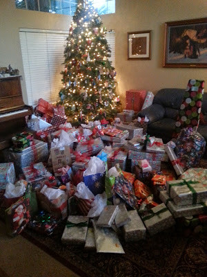 Too many Christmas presents for the first Christmas