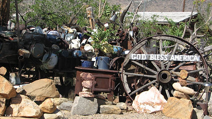 Cool antiques on display at Shady Lady's Attic Antiques in Chloride, Arizona.