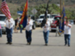 2014 Old Miner's Day VFW Post #2190 Color Guard. Dexter Ford, Jay Combs, Michael Wurdeman