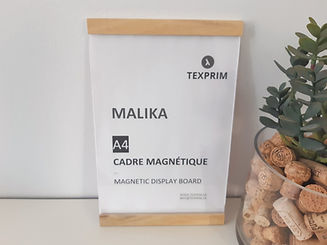 Malika cadre mural magnétique texprim snap frame magnetic frame montreal  quebec canada bois wood