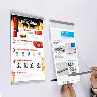 Malaka cadre mural magnétique 8.5x11 solution affichage montréal québec
