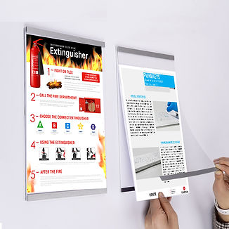 Malika Magnetic Wall Frame 8.5x11 Display Solution Montreal Quebec Ontario toronto Malika cadre mural magnétique texprim snap frame magnetic frame montreal canada