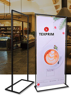 H-banner - support bannière montréal quebec rollup solution affichage Texprim
