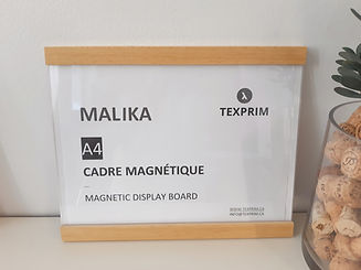Malika cadre mural magnétique texprim snap frame magnetic frame montreal  quebec canada