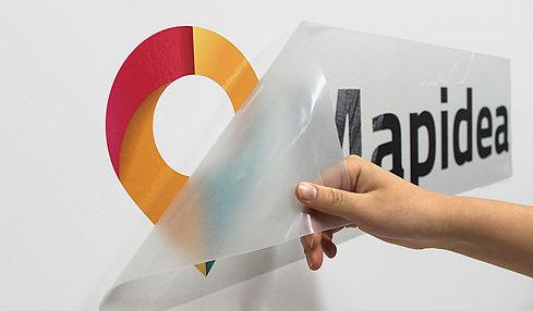 Impression de logo et découpe à la forme d'autocollant- logo - Mural - montreal-Laval-Quebec-texprim.j