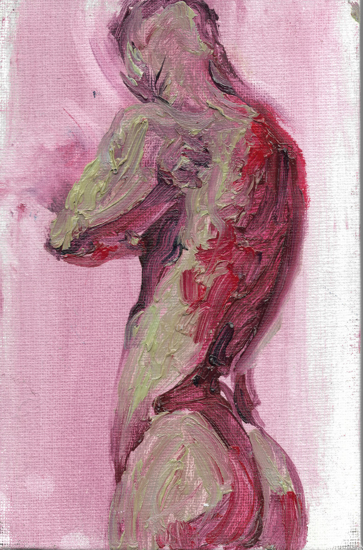 Oil on canvas board,12*18cm Collection of the Artist