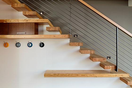 Wooden modern Stairs