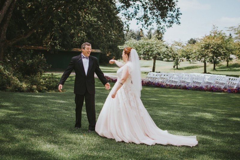 Olympia Wedding Photographer, First Look with Dad