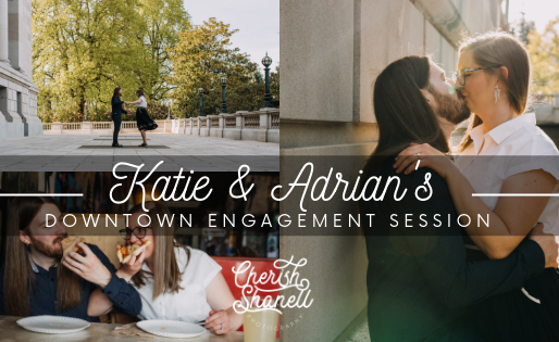 downtown Olympia engagement session