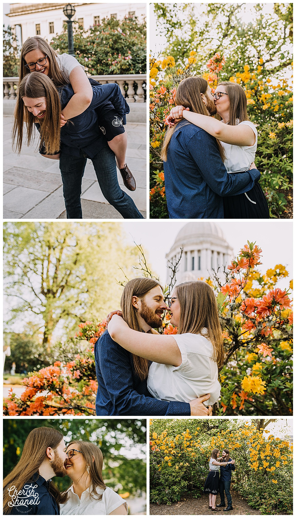Capitol Engagement Session - Olympia Photographer - Cherish Shanell Photography