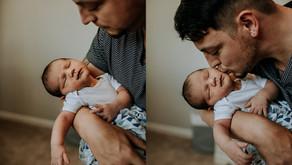 Intimate in-home newborn session