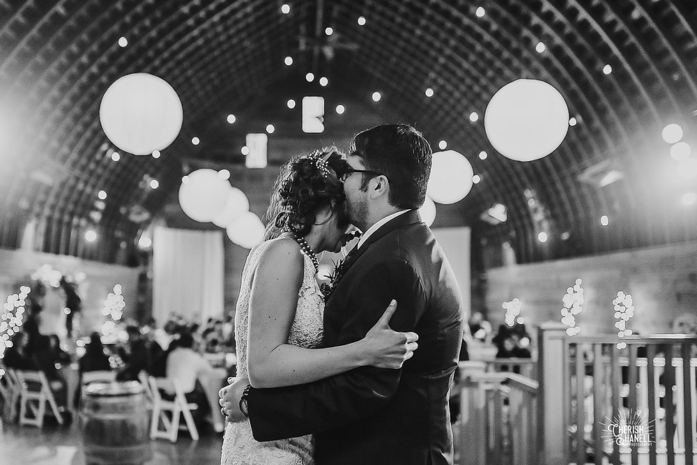 Bride and Groom Dancing Red Barn Studios Wedding | Chehalis, WA