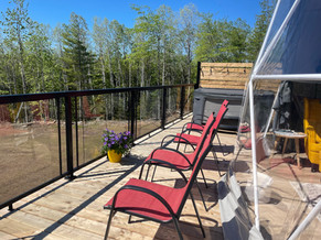 Enjoy the beautiful summer weather outside on your private deck.