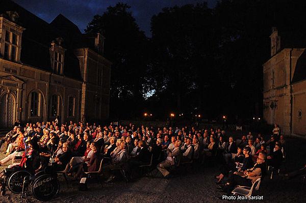 Concert Mozart, cour du château d'Audaux