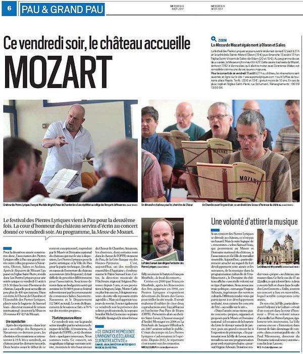 Messe en Ut Mozart La Républiue desPyrénées
