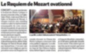 Requiem de Mozart La République des Pyrénées