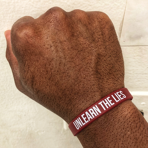 Unlearn The Lies wristband