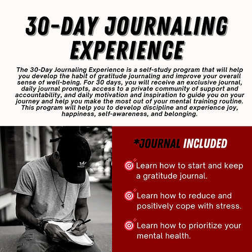 30 Day Journaling Experience (journal included)