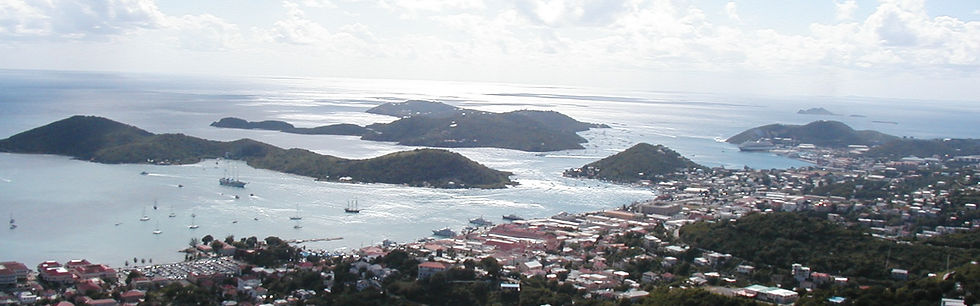 Overlooking Charlotte Amalie, the capital