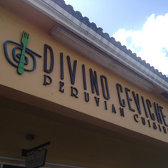 Divino Peruvian Signage Design and Print