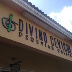 Divino Peruvian Signage Design and Print