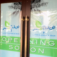 Mojito Latin Cuisine Wall wrap Design in