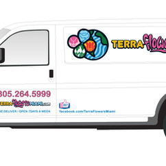 Terra Flowres Vinyl Cut Out letters Car