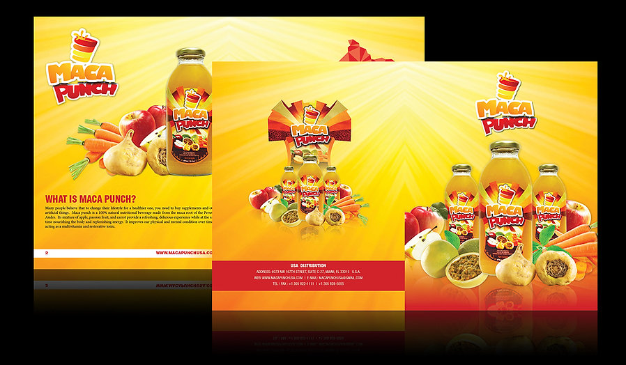 Maca Punch Catalog designed by Nazca Marketing located in Miami Florida
