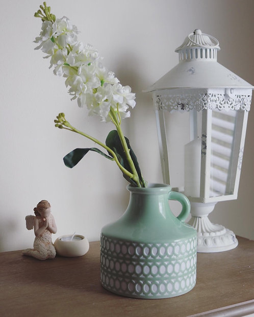 Green Circular Porcelain Vase