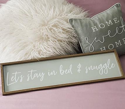 Bedroom Snuggle Sign
