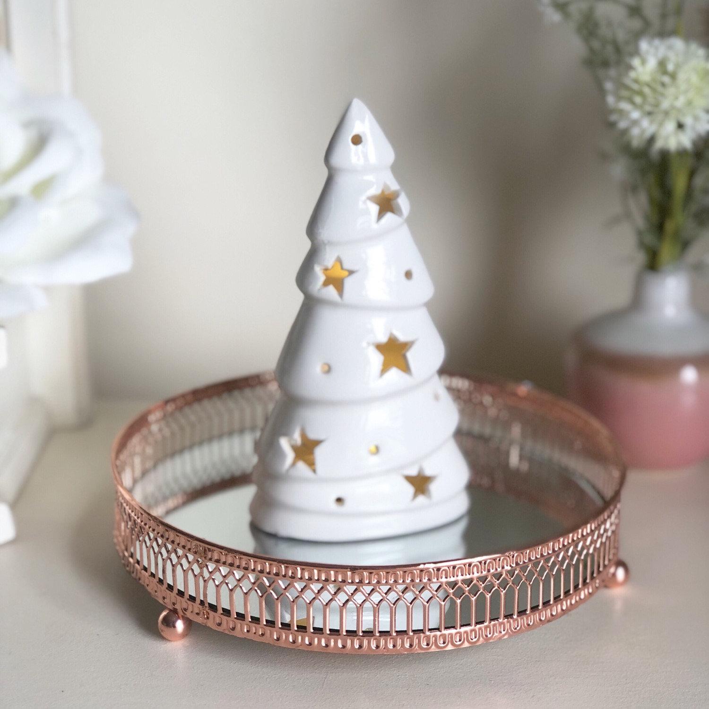 White Ceramic Christmas Tree.Led White Ceramic Christmas Tree Sjelite Interiors