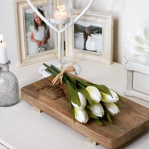 Artificial Cream Tulip Bunch
