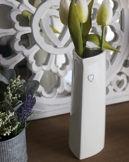 Tall Evie Heart Vase