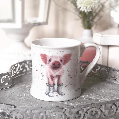 Bree Merryn Penelope Pig in Wellies Mug