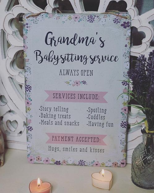 Grandmas Babysitting Service