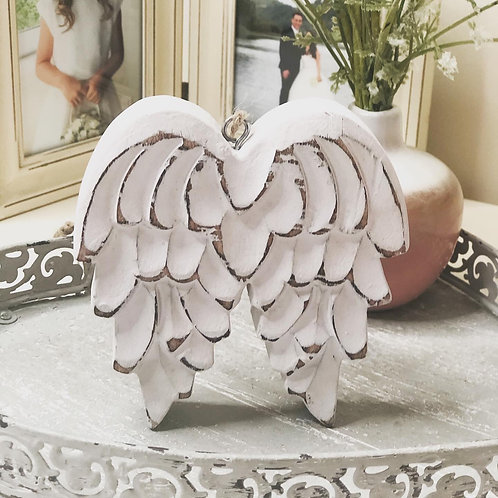 Angel Wings Wooden Hanging Decoration
