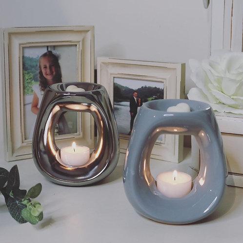 Small Ceramic Oval Wax Burner
