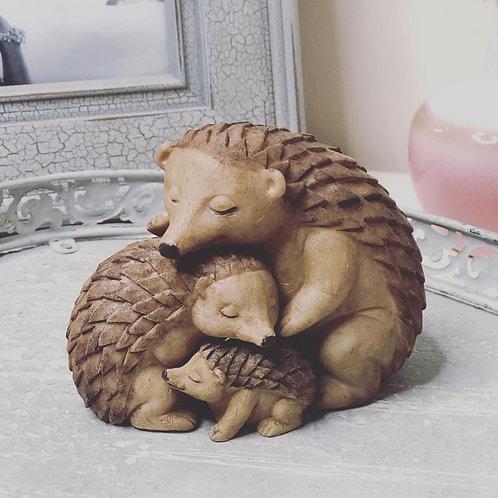 Cute Family Hedgehog ornament