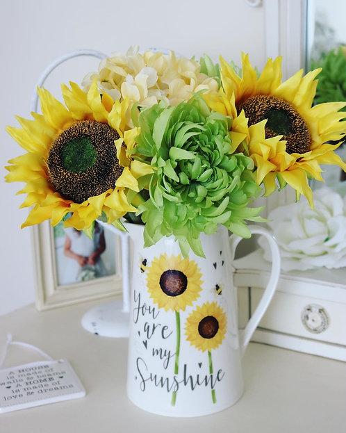 You are my Sunshine Sunflower Jug